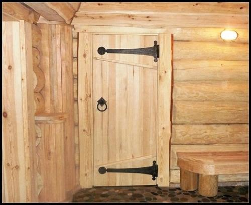 Дверь в баню своими руками