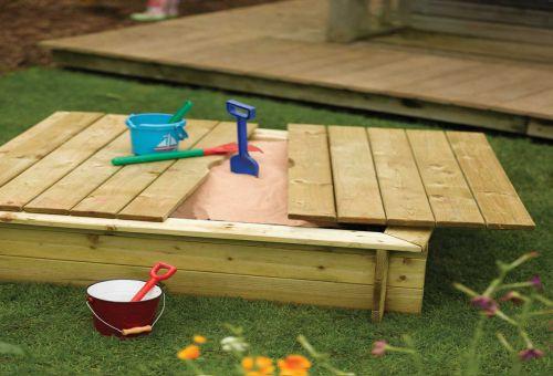 Как построить детскую песочницу?