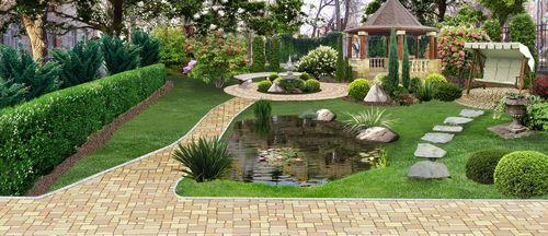 Ландшафтный дизайн малого сада