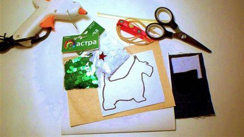 """Мастер-класс по созданию новогодней открытки """"терьер"""" (с фото). мастерим вместе с ребёнком открытку в подарок на новый год!"""