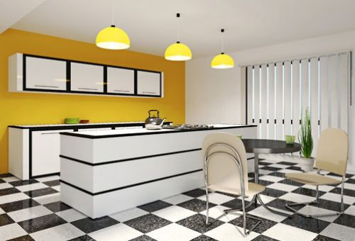 «Островной» вариант планировки кухни