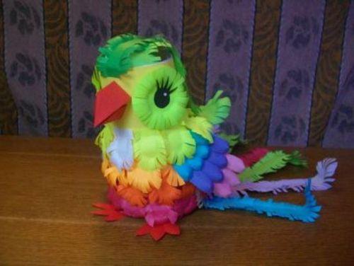 Попугай своими руками: детская схема. сложная техника квиллинга изготовления попугайчиков-неразлучников своими руками