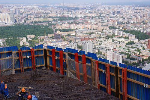 Репортаж с вершины небоскреба: 288 метров над москвой